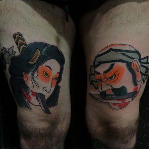 Japanese Tattoo on Thigh