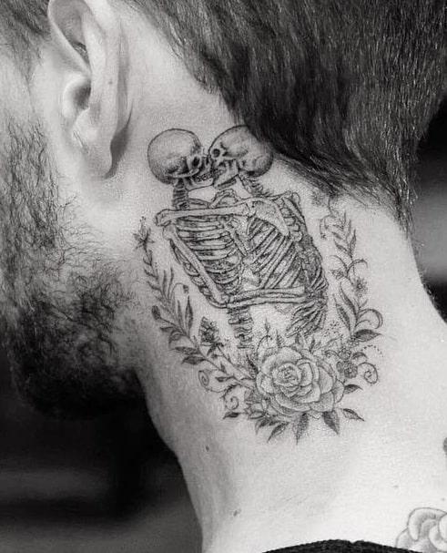 Kissing Couple Skull Tattoo