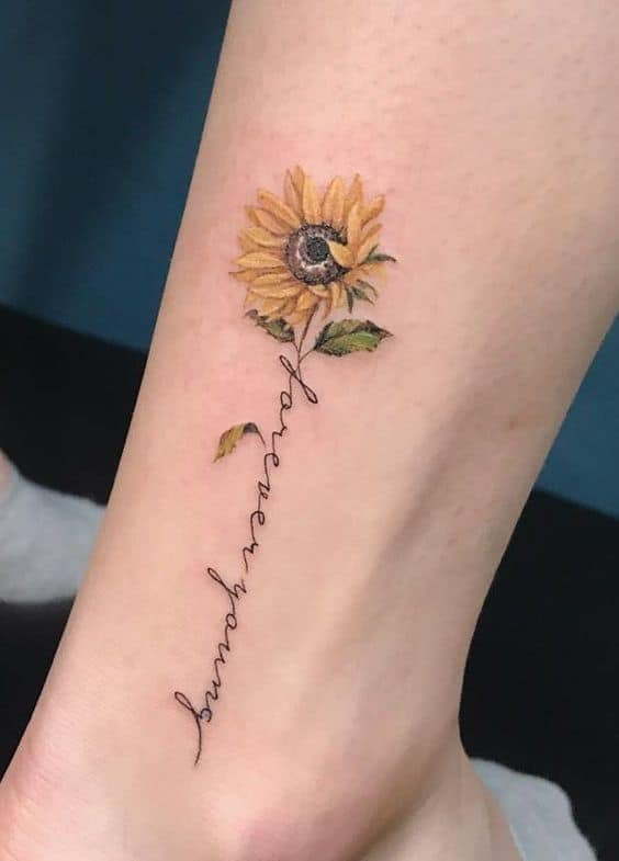 Lettering Tattoo on Ankle