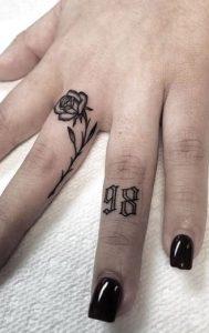 Lettering Tattoo on Finger