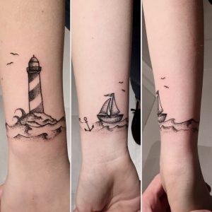 Lighthouse Tattoo For Women