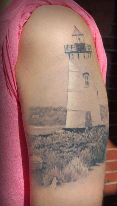 Lighthouse Tattoo on Arm