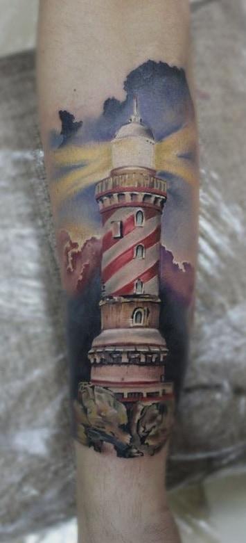 Lighthouse Tattoo  on Forearm