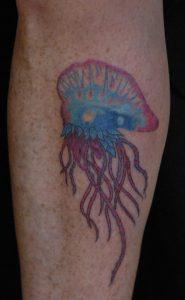 Man of War Jellyfish Tattoo