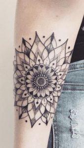 Mandala Sunflower Tattoo