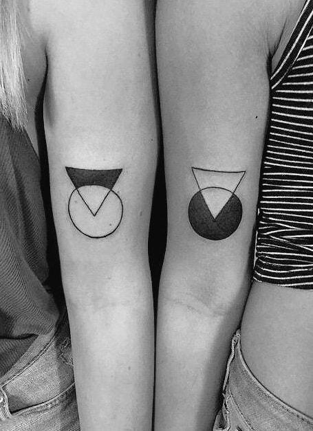 Matching Geometric Tattoo