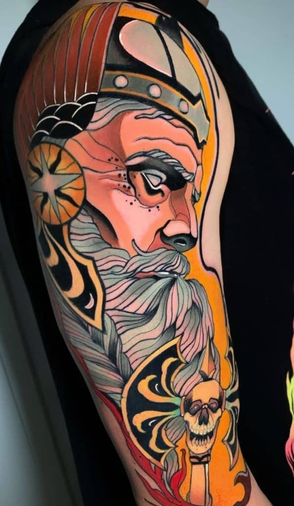 Neo-traditional Viking Tattoo