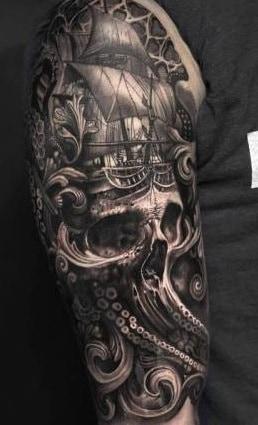 Octopus Skull Tattoo