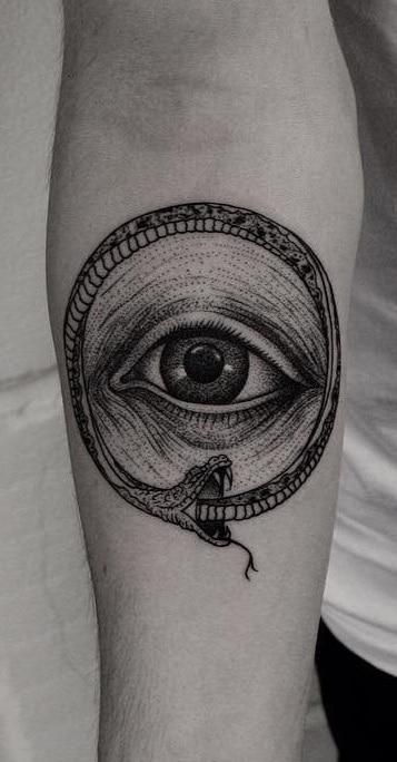 Ouroboros Tattoo on Forearm