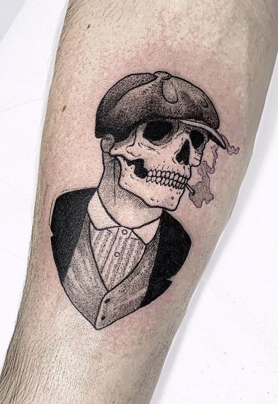 Peaky Blinders Skull Tattoo