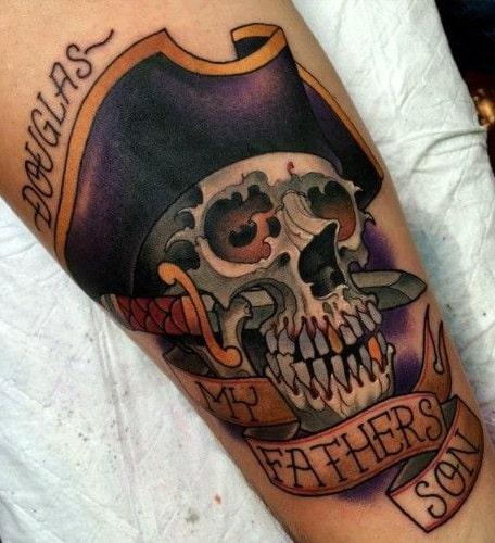 Pirate Skull Tattoo