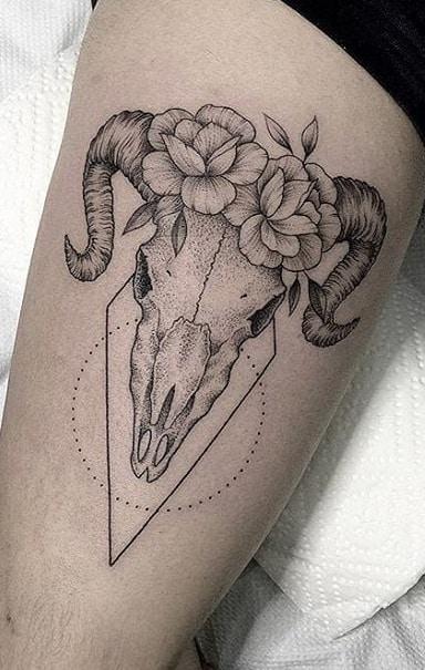 Ram Skull Tattoo