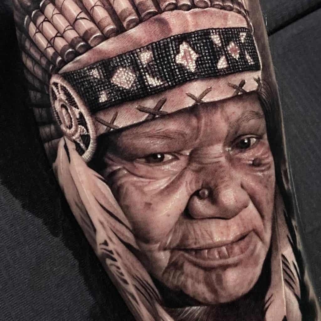 Realistic Black and Grey Tattoo