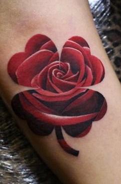 Rose Shamrock Tattoo
