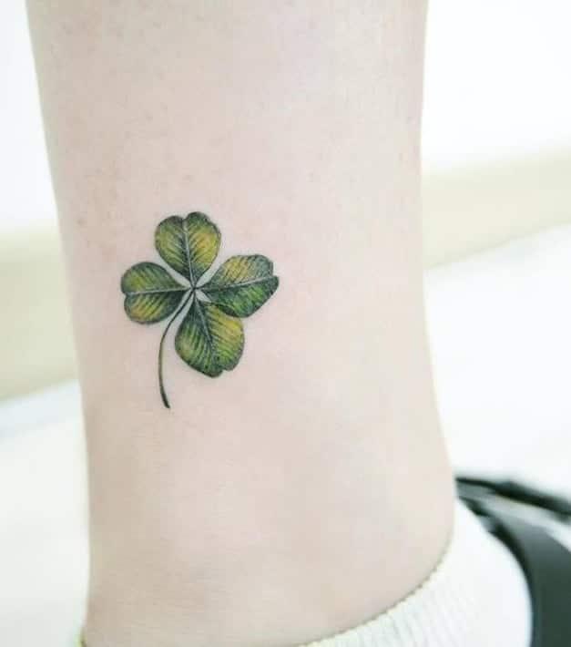 Shamrock Tattoo on Ankle