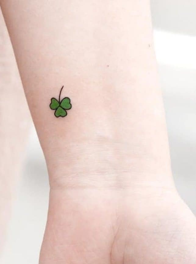 Shamrock Tattoo on Wrist