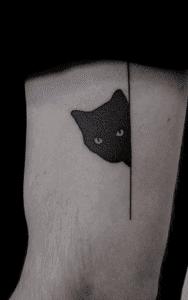 Simple Black-work Tattoo