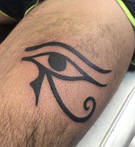 Simple Eye of Horus Tattoo