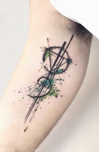 Sketchy Geometric Tattoo
