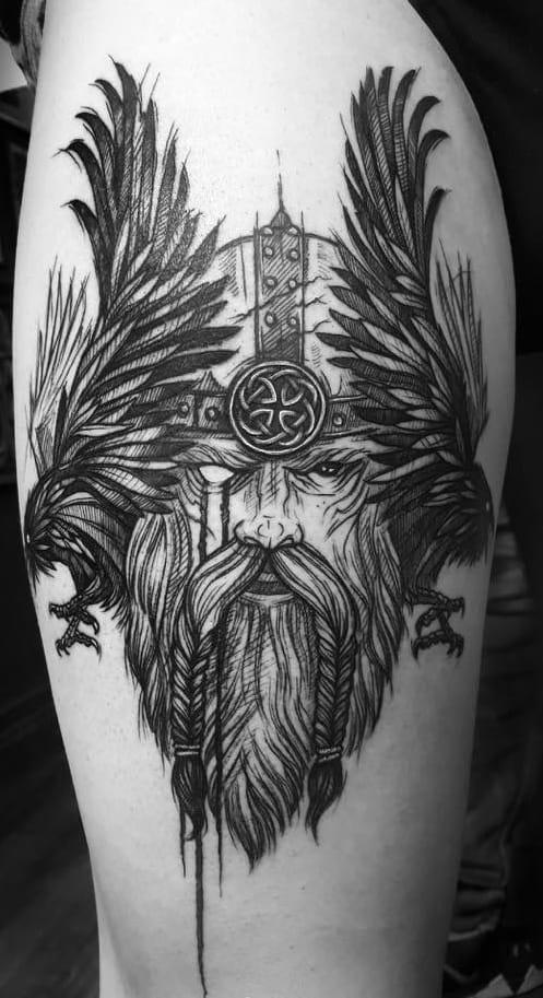 Sketchy Viking Tattoo
