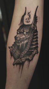Small Anubis Tattoo