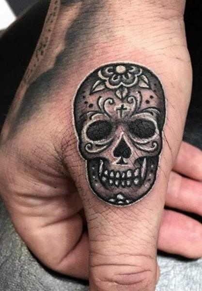 Small Sugar Skull Tattoo