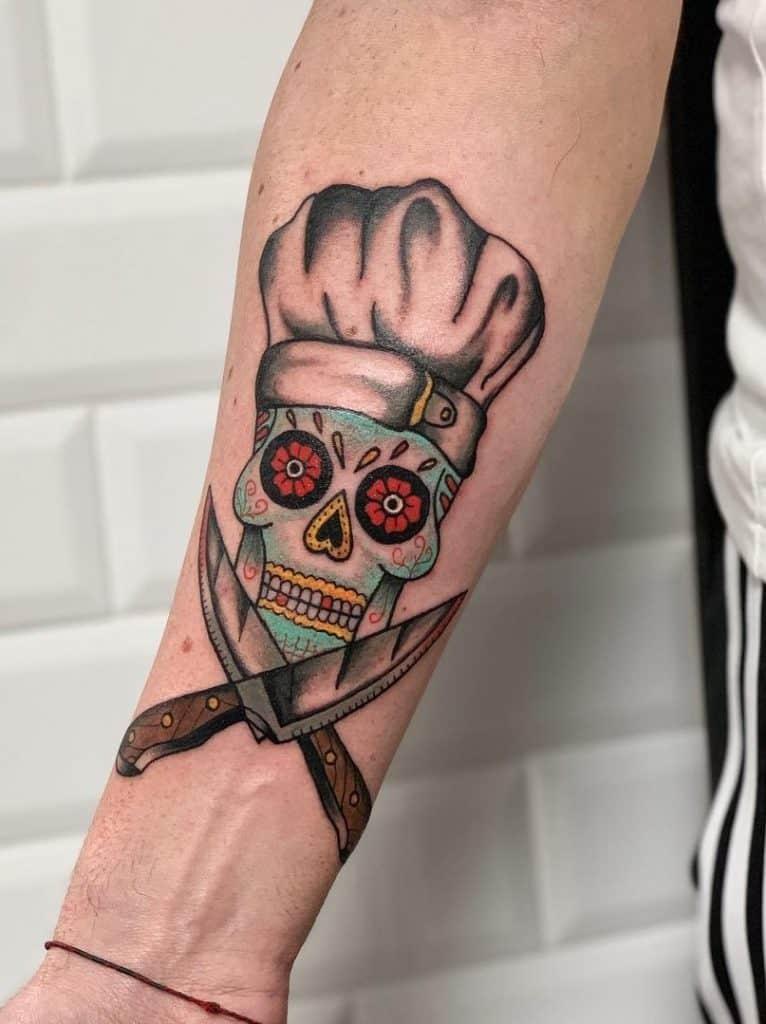 Sugar Skull Tattoo for Men