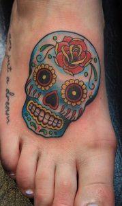 Sugar Skull Tattoo  for Women
