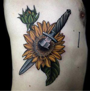 Sunflower Tattoo for Men