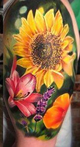 Sunflower Tattoo on Arm