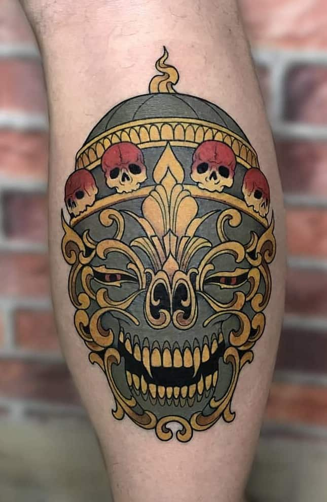 Tibetan Skull Tattoo
