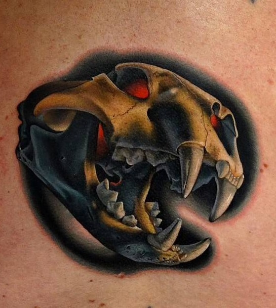 Tiger Skull Tattoo
