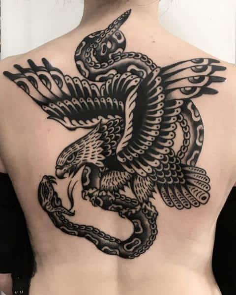 Traditional Black-work Tattoo