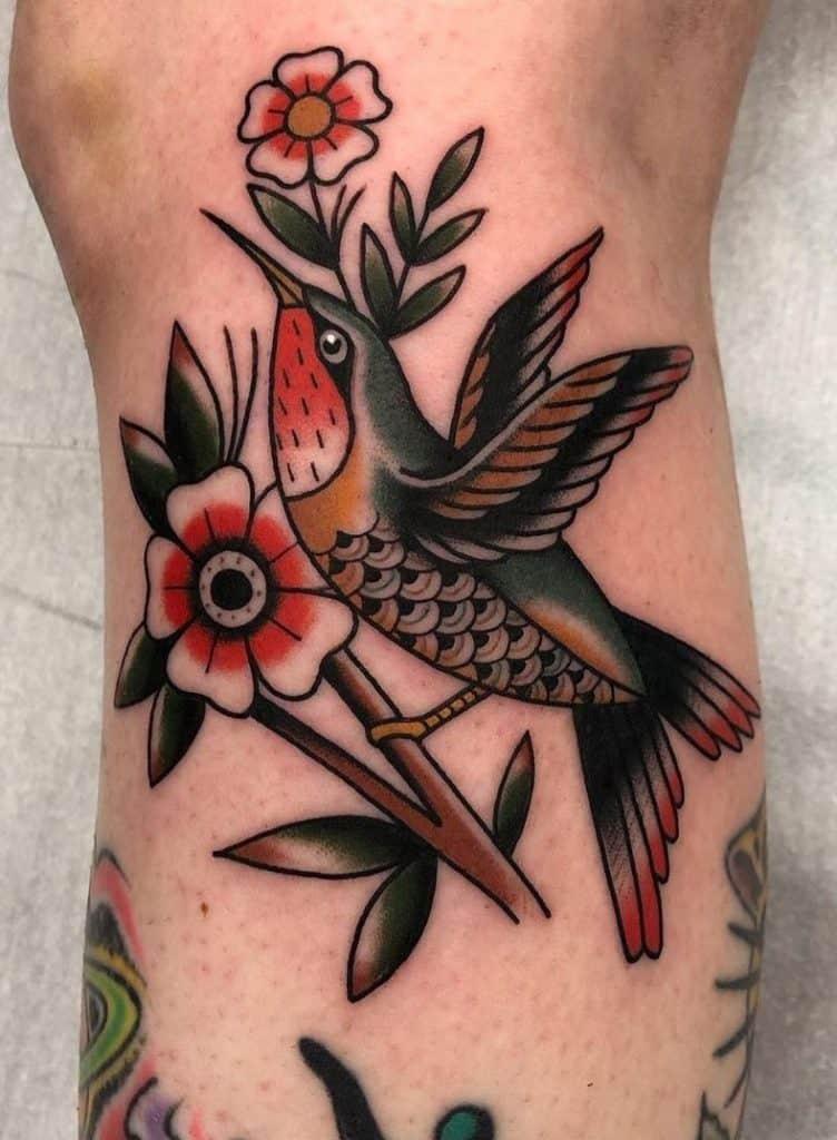 Traditional Hummingbird Tattoo
