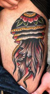 Traditional Jellyfish Tattoo