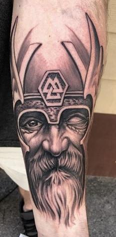 Valknut Odin Tattoo