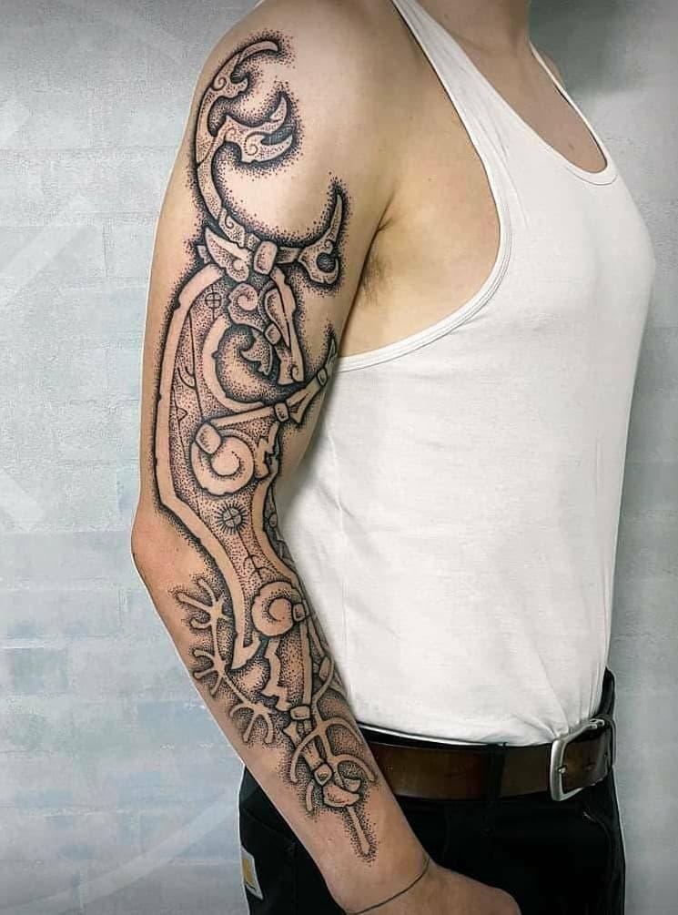 Viking Deer Tattoo