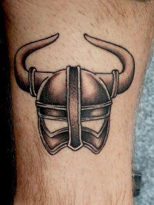 Viking Helmet Tattoo