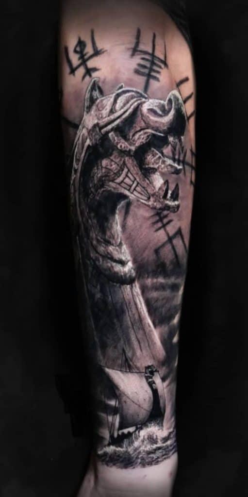Viking Ship Tattoo