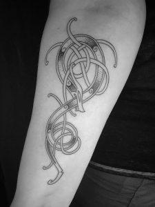 Viking Urnes Tattoo