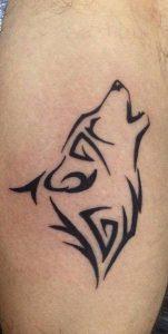 Tribal Wolf Tattoo