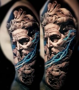 Zeus Tattoo Lightning