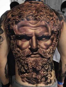 Zeus Tattoos on Back