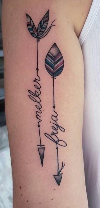 Arrow Tattoo with Name