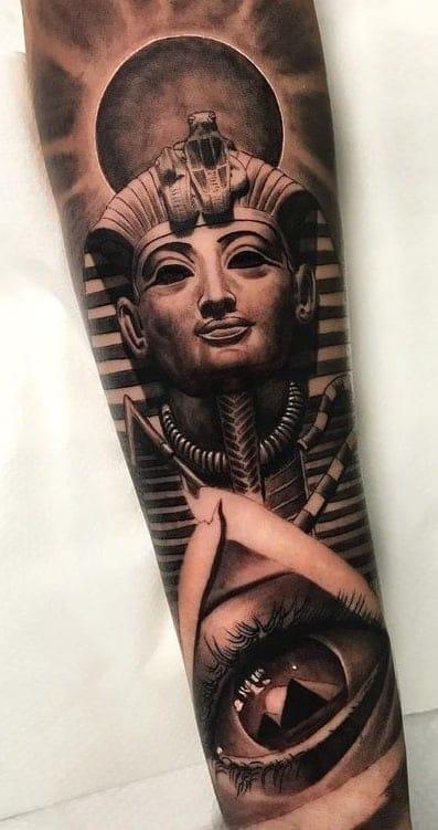 Black and Grey Egyptian Tattoo