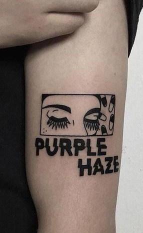 Black-work Lettering Tattoo