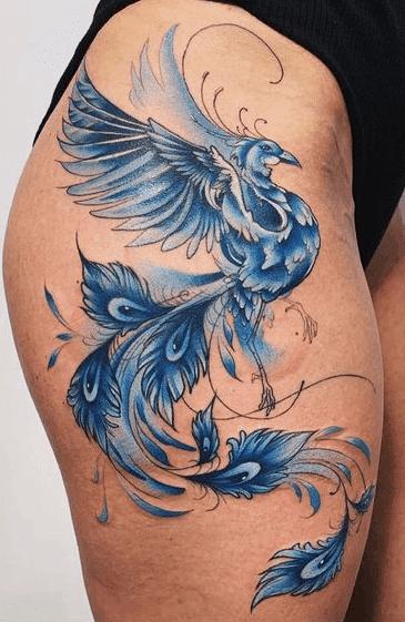 Blue Phoenix Tattoo