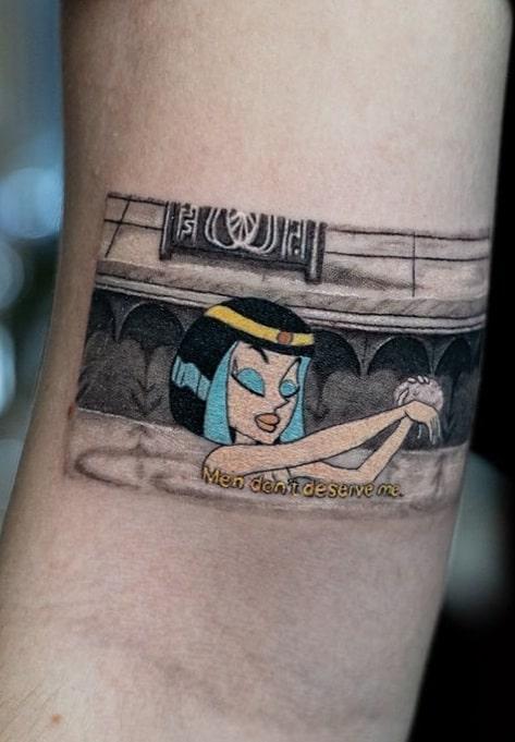 Illustrative Cleopatra Tattoo