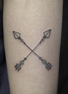 Crossed Arrow Tattoo