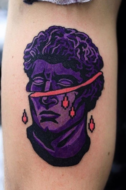 Dark Purple Tattoo